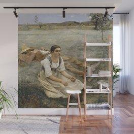 Jules Bastien-Lepage - Hay making Wall Mural