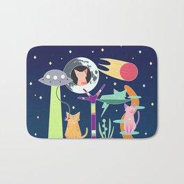 Alien Cat Tower Bath Mat