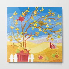Autumn Farm Metal Print