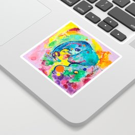 Joyful Elephant Sticker