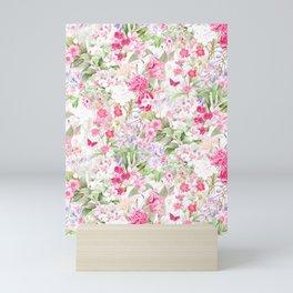 Vintage & Shabby Chic - Pastel Spring Flower Medow Mini Art Print