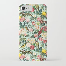 Floral and Birds III iPhone Case