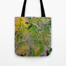 green mess abstract Tote Bag