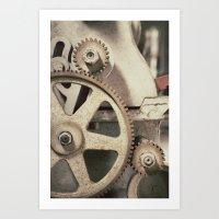 gears of war Art Prints featuring Gears by BrandonAddisArt