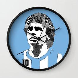 Diego Maradona Argentina Wall Clock