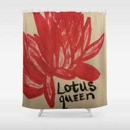 Lotus queen Shower Curtain