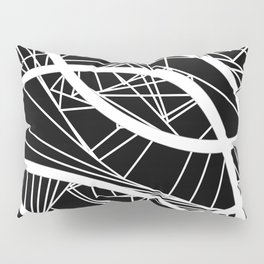 Fractured Black And White Abstract Pillow Sham