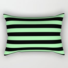 Chrysoprase and Black Stripes Rectangular Pillow
