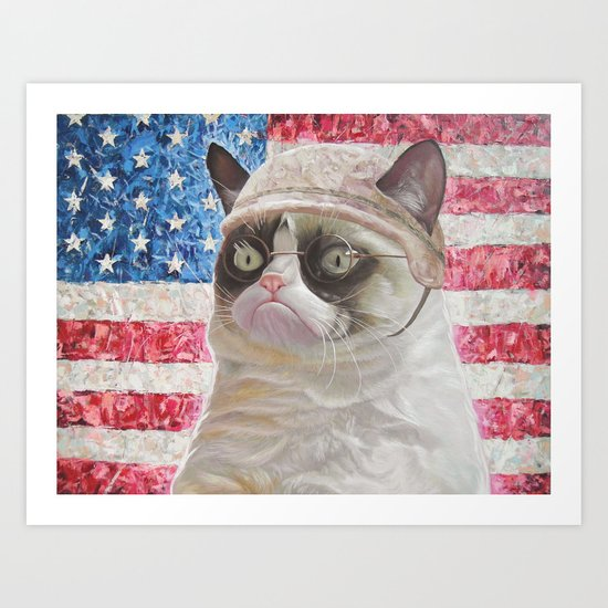 American Grumpy  Art Print