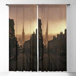 Bath Somerset Morning mist Blackout Curtain