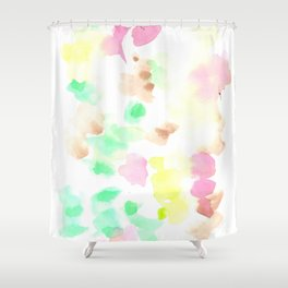 170322 Soft Pastel Watercolour 9  |Modern Watercolor Art | Abstract Watercolors Shower Curtain