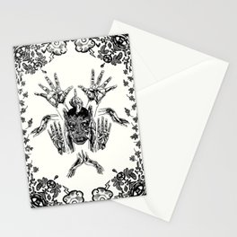Make a Mask From Your Hands Stationery Cards