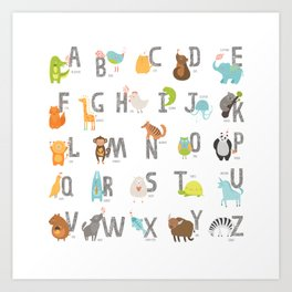 Animal Alphabet 6-4 Art Print