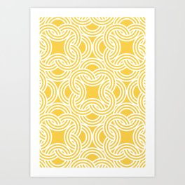 Nautical Theme Geometrical Pattern Art Print