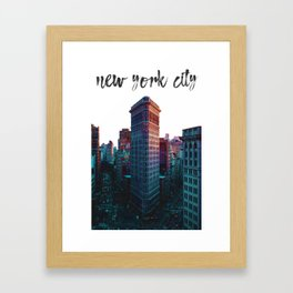 New York City The Flatiron Building Framed Art Print