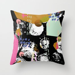 Spiralling out of control Throw Pillow