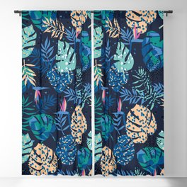 Palm Leaves Tropical Blackout Curtain