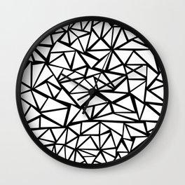 Mozaic Triangle White Wall Clock