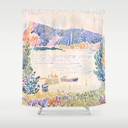 Cap Nègre by Henri-Edmond Cross 1909, French Shower Curtain