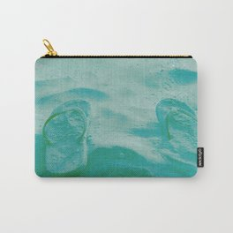 Thongs in the sand photo Carry-All Pouch