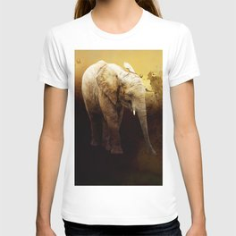 The cute elephant calf T-shirt