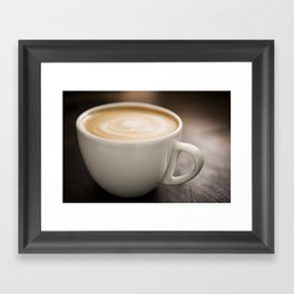 Creamy Coffee Framed Art Print