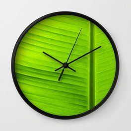 banana tree leaf Wall Clock