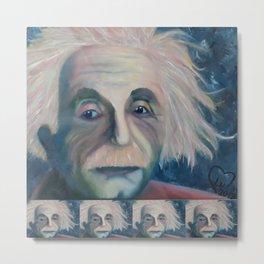 Albert Einstein, Original painting by Lu Metal Print
