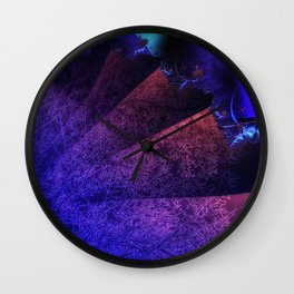 Pleated fantasy forest Wall Clock