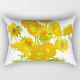 Sunflowers with a clear background Rectangular Pillow