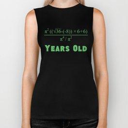 90 Years Old Algebra Equation 90th Birthday Biker Tank
