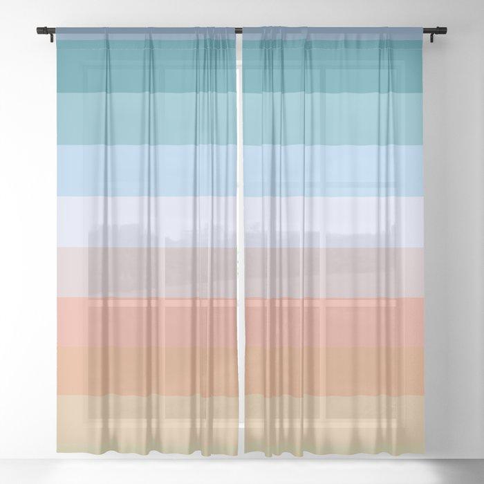 Multicolor Stripes - Tiyanak Sheer Curtain