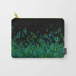 Binary Cloud Carry-All Pouch