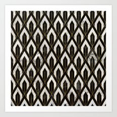 Art Deco Marble Pattern Art Print