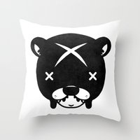suit Throw Pillows featuring Bear Suit by Terry Mack