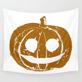 Pumpkin Hand Print Wall Tapestry