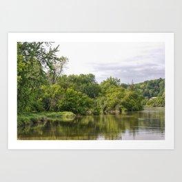 Winooski River Reflection Art Print