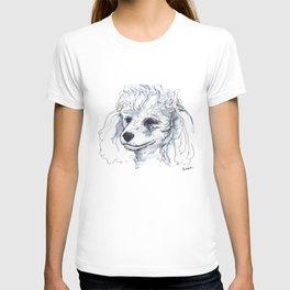 Poodle (portrait for my mom), watercolor T-shirt