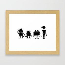 Four Robots Framed Art Print