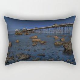 Dusk at Llandudno Pier Rectangular Pillow