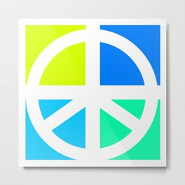 Peace Symbol Abstract Metal Print