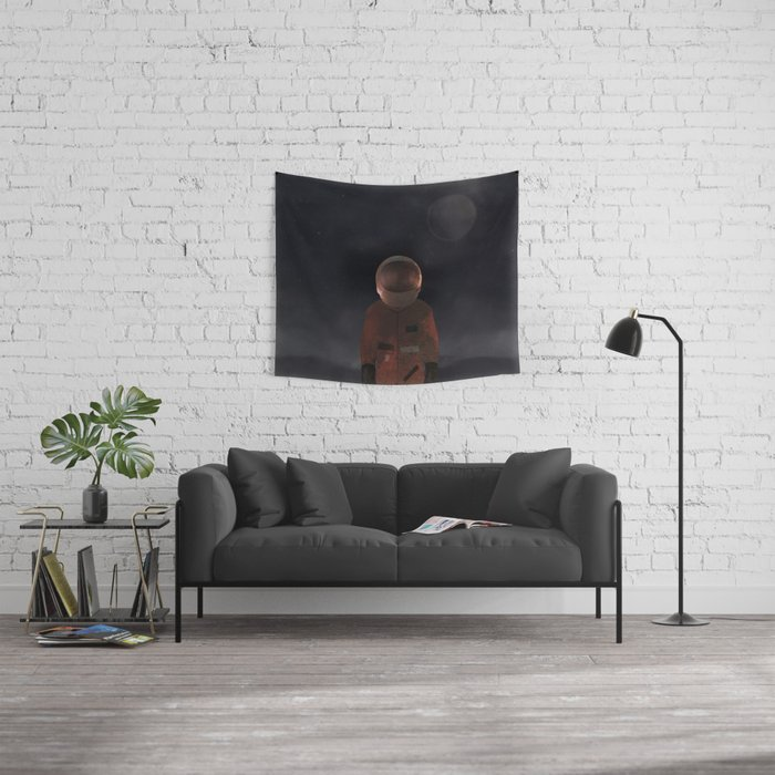marooned astronaut Wall Tapestry