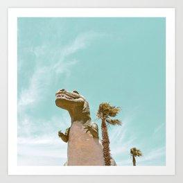 Pastel T-Rex Art Print