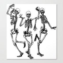Three Dancing Skulls Canvas Print