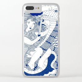 Sister Dragon Slayer Clear iPhone Case