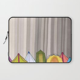Stripes and Colorful Camping Tents 98 Laptop Sleeve