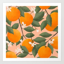 fresh citrus Art Print