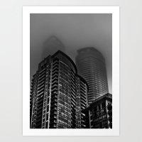 Downtown Toronto Fogfest No 22 Art Print