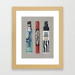 Markers: Magnum + Sakura + Pilot Framed Art Print