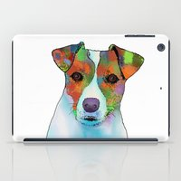 jack russell iPad Cases featuring Jack Russell Dog by Marlene Watson